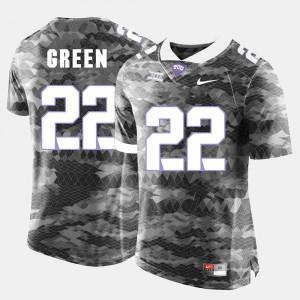For Men College Football Aaron Green TCU Jersey Grey #22