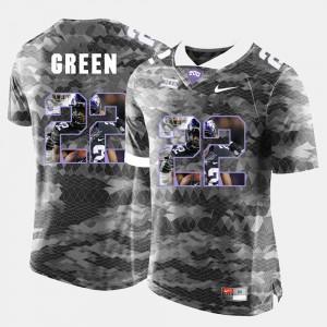 #22 Mens Grey Aaron Green TCU Jersey High-School Pride Pictorial Limited