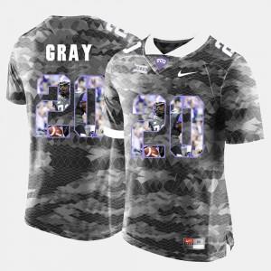 Men's #20 High-School Pride Pictorial Limited Deante Gray TCU Jersey Grey