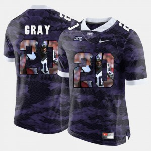 High-School Pride Pictorial Limited Purple #20 For Men Deante Gray TCU Jersey