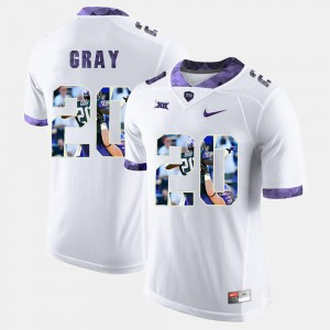 High-School Pride Pictorial Limited Deante Gray TCU Jersey For Men's White #20