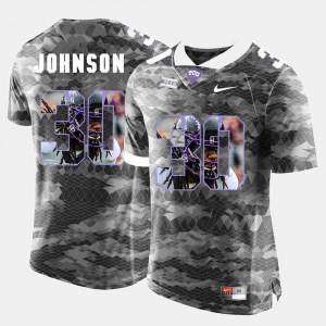 High-School Pride Pictorial Limited #30 Grey Denzel Johnson TCU Jersey Mens