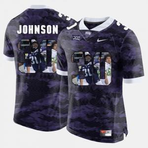 High-School Pride Pictorial Limited Purple Men's #30 Denzel Johnson TCU Jersey