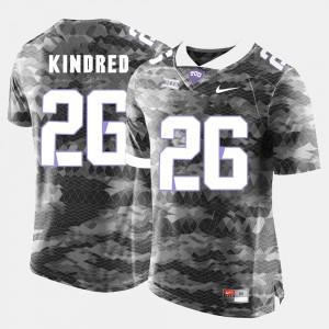 College Football For Men Derrick Kindred TCU Jersey #26 Grey