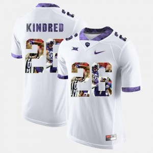 Derrick Kindred TCU Jersey Mens High-School Pride Pictorial Limited White #26