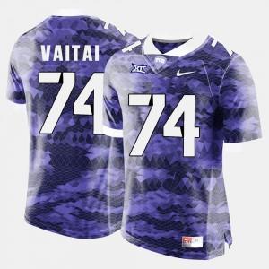 Halapoulivaati Vaitai TCU Jersey Purple #74 College Football Men