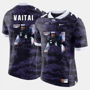 #74 Halapoulivaati Vaitai TCU Jersey For Men's High-School Pride Pictorial Limited Purple