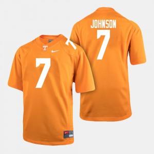 #7 College Football Brandon Johnson UT Jersey Men's Orange