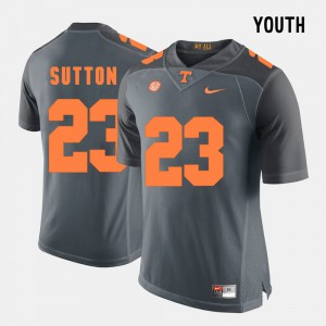 Youth College Football Grey Cameron Sutton UT Jersey #23