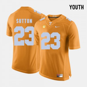 Cameron Sutton UT Jersey #23 Youth College Football Orange