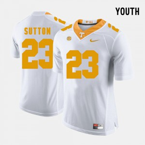 College Football For Kids #23 Cameron Sutton UT Jersey White