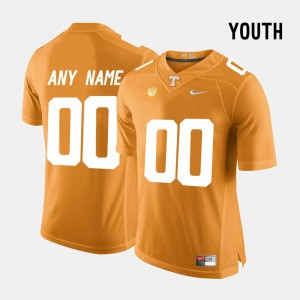 Orange #00 Kids College Limited Football UT Custom Jerseys