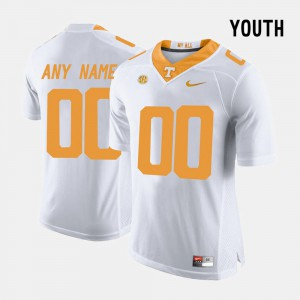 Youth College Limited Football White UT Custom Jerseys #00