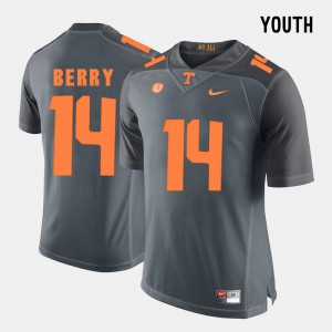 #14 Grey For Kids Eric Berry UT Jersey College Football