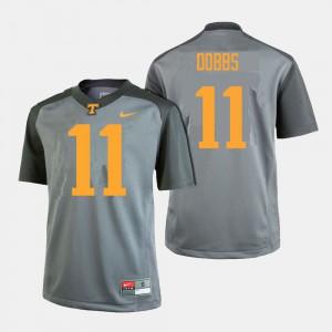 #11 Mens Gray Joshua Dobbs UT Jersey College Football