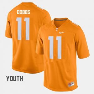 Joshua Dobbs UT Jersey Youth College Football Orange #11