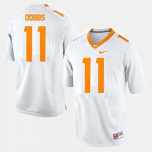 College Football #11 Joshua Dobbs UT Jersey White Mens