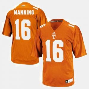 Peyton Manning UT Jersey Orange #16 For Kids College Football