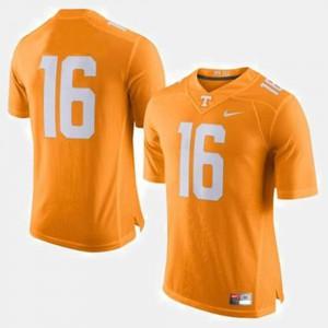 College Football #16 Peyton Manning UT Jersey Orange Men's