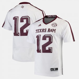 Men's 2017 Special Games #12 White Texas A&M Jersey