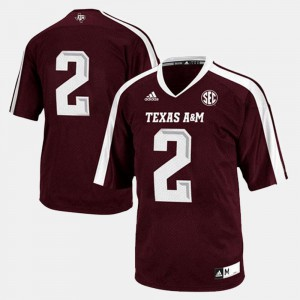 Texas A&M Jersey #2 Mens Maroon College Football