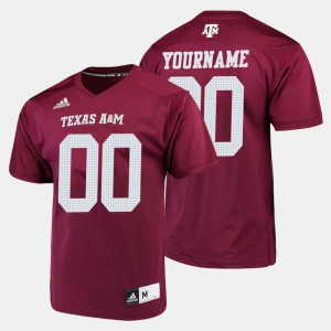 Maroon For Men Texas A&M Custom Jersey #00 College Football