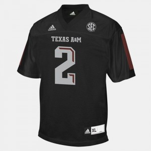 Men's College Football #2 Johnny Manziel Texas A&M Jersey Black