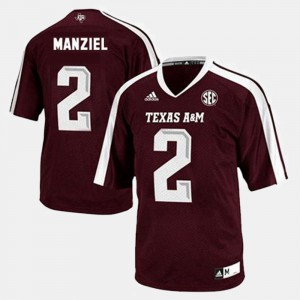 For Men College Football Johnny Manziel Texas A&M Jersey #2 Red