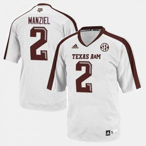 White Johnny Manziel Texas A&M Jersey College Football Youth(Kids) #2