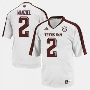 College Football Men's Johnny Manziel Texas A&M Jersey #2 White