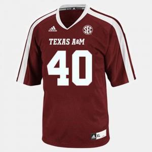 College Football Von Miller Texas A&M Jersey For Men's #40 Red