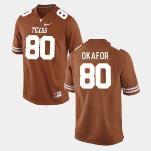 For Men's College Football #80 Burnt Orange Alex Okafor Texas Jersey