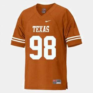Brian Orakpo Texas Jersey Orange #98 College Football For Men's