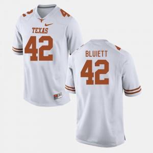 #42 White Caleb Bluiett Texas Jersey College Football Men
