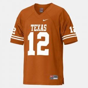 Colt McCoy Texas Jersey College Football #12 Orange For Kids