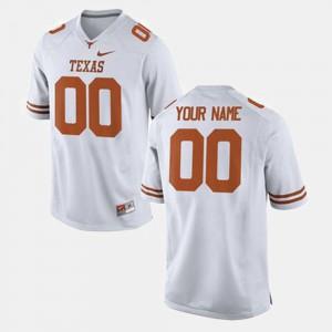 #00 White For Men Texas Custom Jerseys College Football