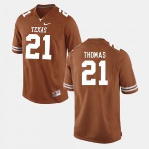 Duke Thomas Texas Jersey Burnt Orange #21 College Football Mens