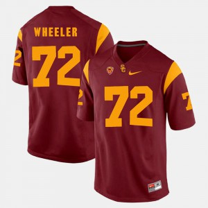 #72 Pac-12 Game Mens Chad Wheeler USC Jersey Red