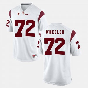 Chad Wheeler USC Jersey #72 Mens White Pac-12 Game