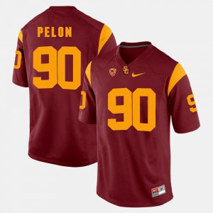 Red For Men Pac-12 Game Claude Pelon USC Jersey #90
