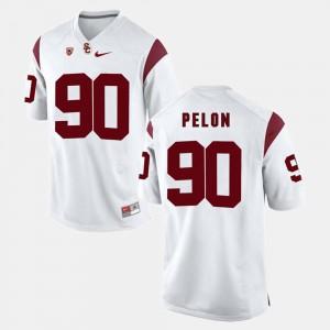 Claude Pelon USC Jersey #90 White For Men Pac-12 Game