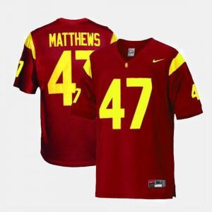 #47 College Football Clay Matthews USC Jersey Men Red