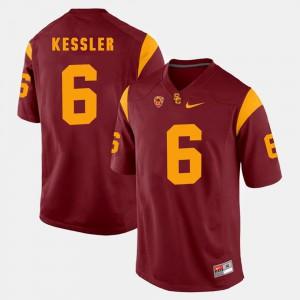 Red Men's Cody Kessler USC Jersey Pac-12 Game #6