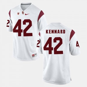 For Men White #42 Pac-12 Game Devon Kennard USC Jersey