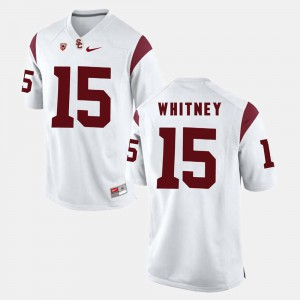 Isaac Whitney USC Jersey #15 White For Men Pac-12 Game