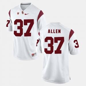 Javorius Allen USC Jersey For Men Pac-12 Game White #37