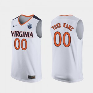 Men's 2019 Men's Basketball Champions UVA Customized Jersey #00 White