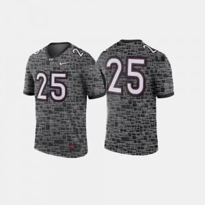 #25 Anthracite Men's Virginia Tech Jersey College Football