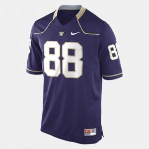 #88 Men Purple College Football Washington Jersey