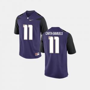 K.J. Carta-Samuels Washington Jersey #11 Purple Mens College Football